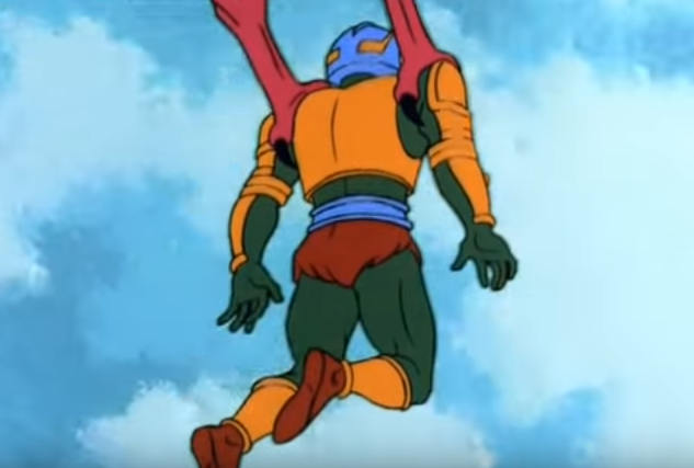 Man-at-Arms Carried by Pteradactyl