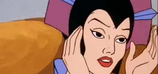 Evil-Lyn Removes Helmet
