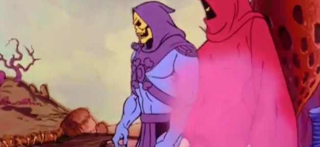 "Shadow Weaver and Skeletor from ""Of Shadows of Skulls."""