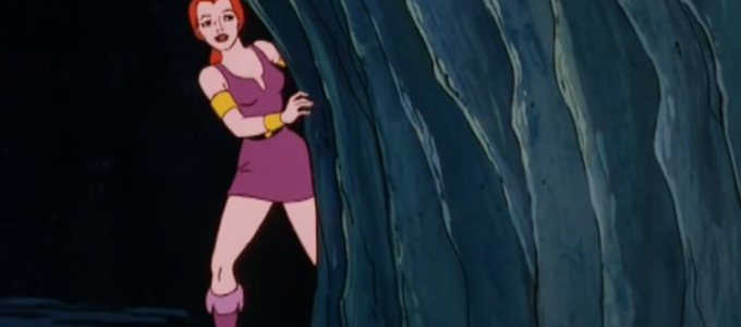"Teela-Na inside Castle Grayskull in ""Origin of the Sorceress"" from ""He-Man and the Masters of the Universe"""